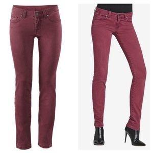 CAbi Bordeaux Wash Stretch Skinny Jean Style# 919